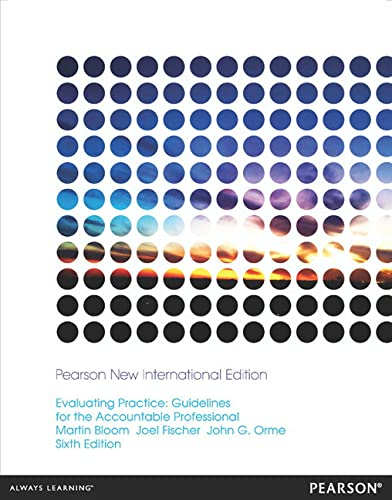 9781292041957: Evaluating Practice: Guidelines for the Accountable Professional
