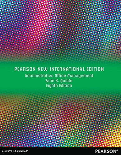 9781292042107: Administrative Office Management: Pearson New International Edition