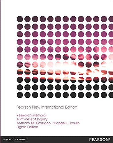 9781292042169: Research Methods: Pearson New International Edition: A Process of Inquiry