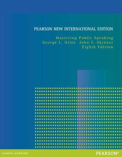 9781292042190: Mastering Public Speaking: Pearson New International Edition