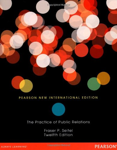 9781292042244: The Practice of Public Relations: Pearson New International Edition