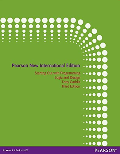 9781292042251: Starting out with Programming Logic and Design