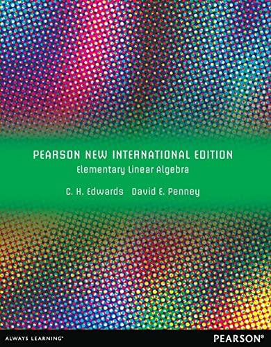 9781292042534: Elementary Linear Algebra