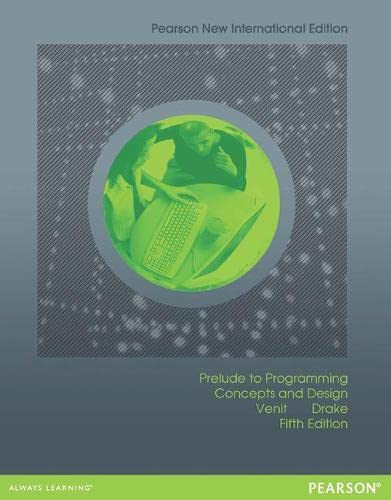 9781292042572: Prelude to Programming: Concepts and Design