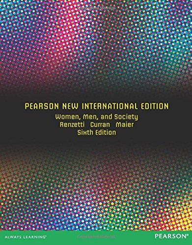 9781292042633: Women, Men, and Society: Pearson New International Edition