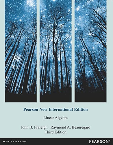 9781292042725: Linear Algebra
