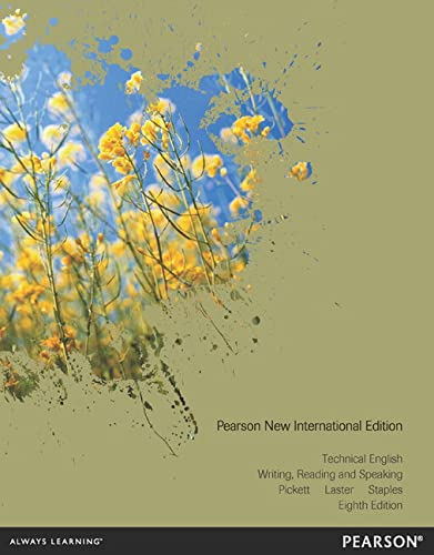 9781292042862: Technical English: Pearson New International Edition: Writing, Reading and Speaking