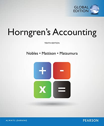 9781292056517: Horngren's Accounting, Global Edition