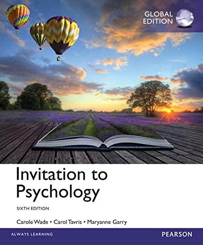 9781292056562: Invitation to Psychology, Global Edition