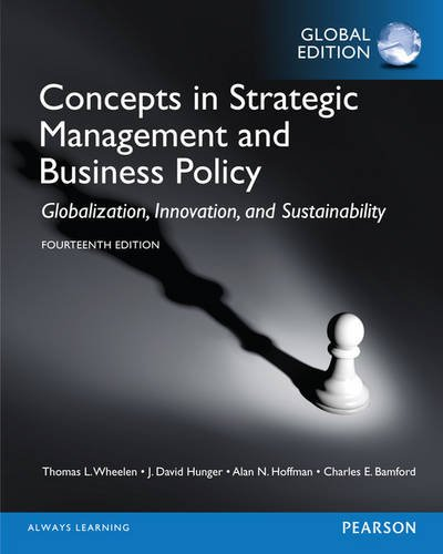 9781292056579: Concepts in Strategic Management and Business Policy, Global Edition