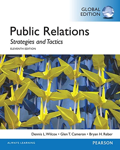 9781292056586: Public Relations: Strategies and Tactics, Global Edition