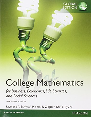 9781292057668: College Mathematics for Business, Economics, Life Sciences and Social Sciences, Global Edition