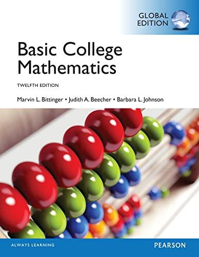 9781292057699: Basic College Mathematics, Global Edition