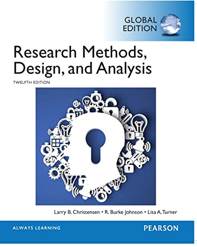 9781292057743: Research Methods, Design, and Analysis, Global Edition