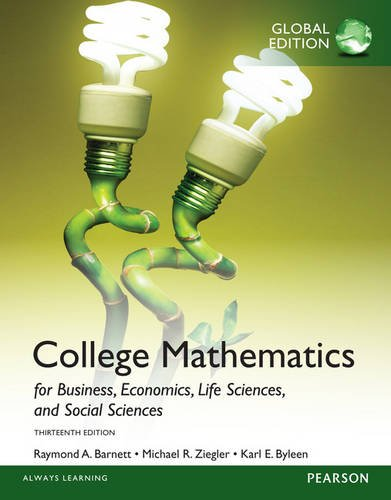 9781292058399: College Mathematics for Business, Economics, Life Sciences and Social Sciences with My Math Lab, Global Edition