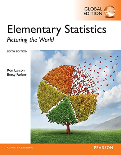 9781292058610: Elementary Statistics: Picturing the World, Global Edition