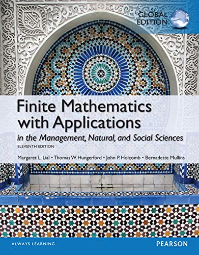 9781292058634: Finite Mathematics with Applications, Global Edition