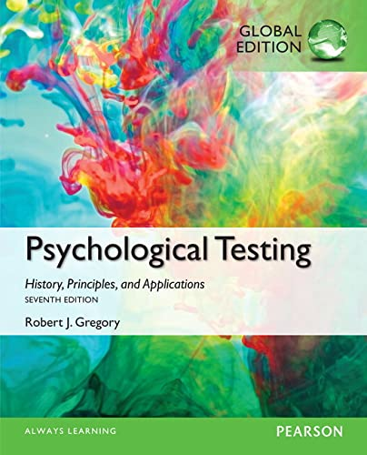 9781292058801: Psychological Testing: History, Principles, and Applications, Global Edition