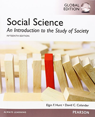 15th Edition An Introduction to the Study of Society Social Science