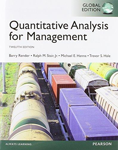 9781292059327: Quantitative Analysis for Management, Global Edition