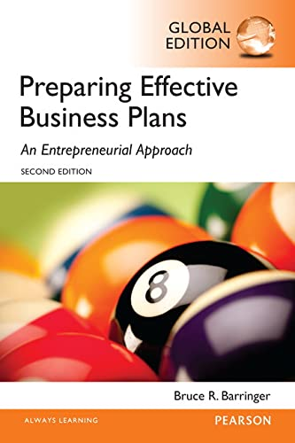 9781292059334: Barringer: Preparing Effective Business Plans: An Entrepreneurial Approach, Global Edition