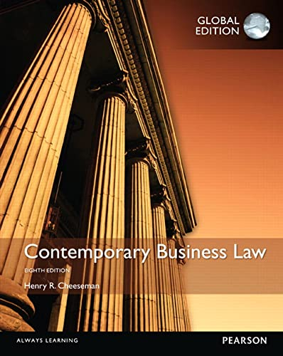 9781292059358: Contemporary Business Law, Global Edition