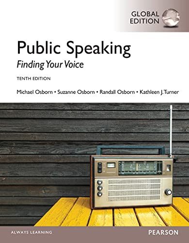 9781292059983: Public Speaking: Finding Your Voice, Global Edition