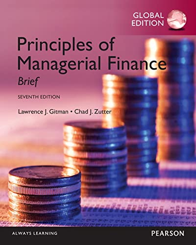 9781292060101: Principles of Managerial Finance: Brief, Global Edition