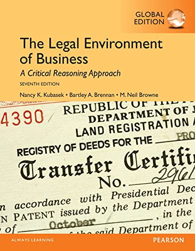 9781292060156: The Legal Environment of Business, Global Edition