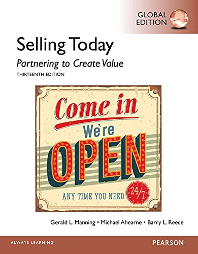 9781292060170: Selling Today: Partnering to Create Value, Global Edition