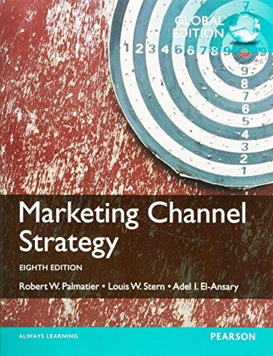 9781292060460: Marketing Channel Strategy: International Edition
