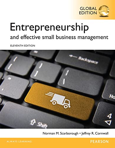 9781292060613: Entrepreneurship and Effective Small Business Management, Global Edition