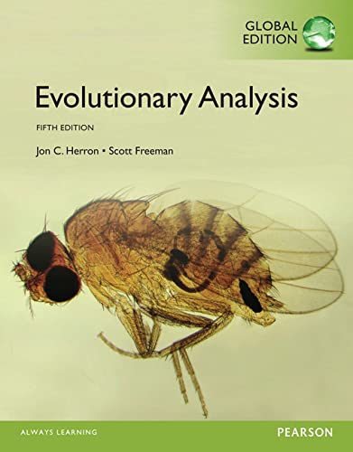 9781292061276: Evolutionary Analysis, Global Edition