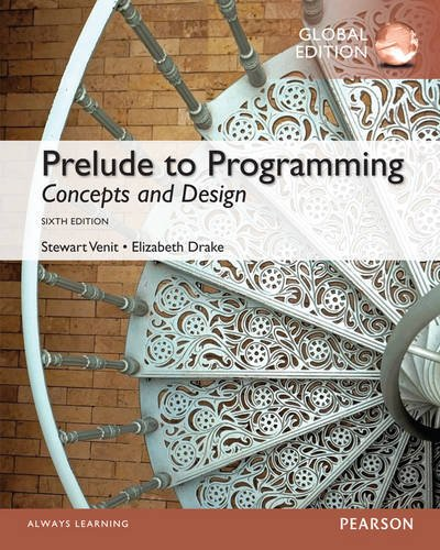 9781292061535: Prelude to Programming: Concepts and Design: Global Edition