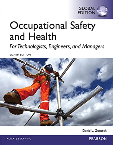 9781292061993: Occupational Safety and Health for Technologists, Engineers, and Managers, Global Edition