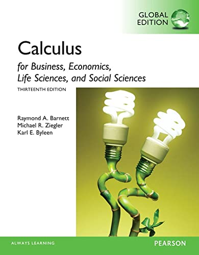 9781292062280: Calculus for Business, Economics, Life Sciences and Social Sciences, Global Edition