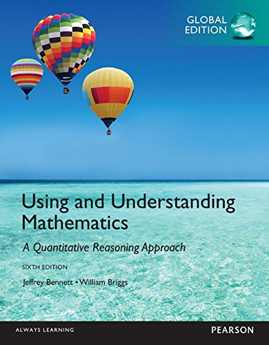 9781292062303: Using and Understanding Mathematics: a Quantitative Reasoning Approach Global Edition