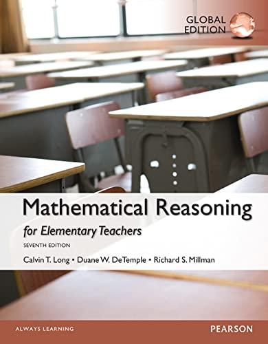 9781292062365: Mathematical Reasoning for Elementary School Teachers, Global Edition