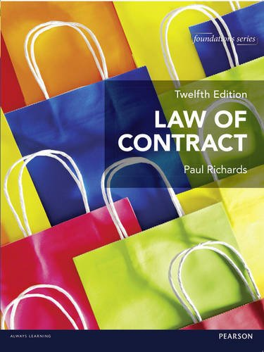 9781292063751: Law of Contract (Foundation Studies in Law Series)
