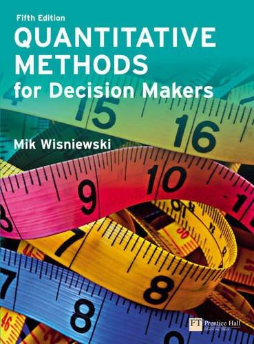 9781292064376: Quantitative Methods for Decision Makers