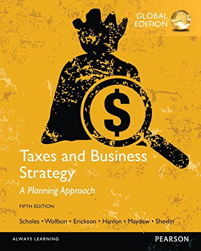 9781292065571: Taxes & Business Strategy, Global Edition