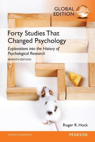 9781292070964: Forty Studies that Changed Psychology, Global Edition