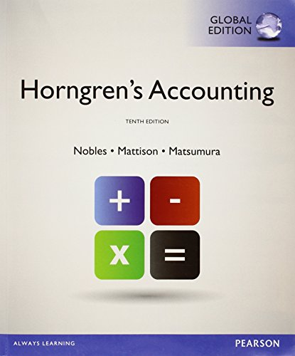 9781292074771: Horngren's Accounting with MyAccountingLab, Global Edition