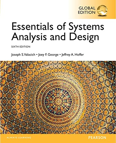 9781292076614: Essentials of Systems Analysis and Design, Global Edition