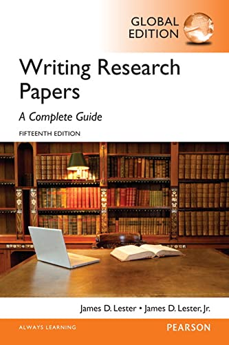 9781292076898: Writing Research Papers A Complete Guide, Global Edition