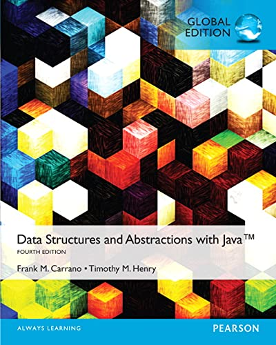 9781292077185: Data Structures and Abstractions with Java, Global Edition