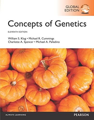 Concepts of Genetics: Palladino, Michael A.; Spencer, Charlotte A.; Cummings, Michael R.; Klug, ...