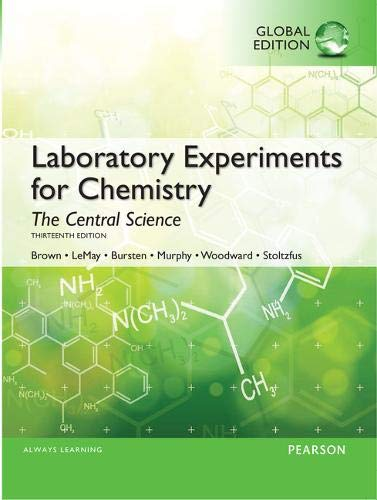9781292077604: Laboratory Experiments for Chemistry The Central Science, Global Edition