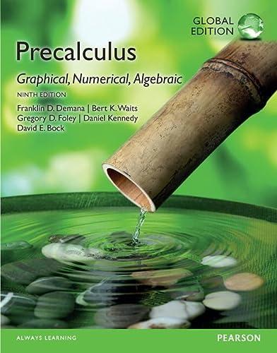 9781292079455: Precalculus: Graphical, Numerical, Algebraic, Global Edition