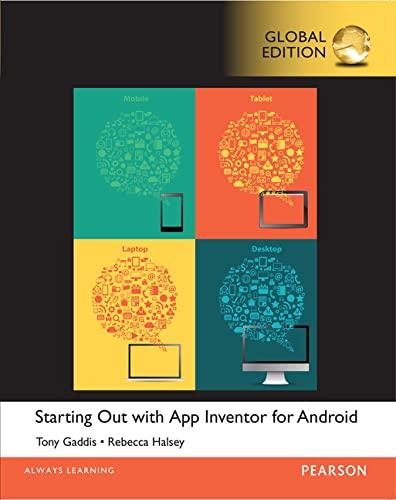 9781292080321: Starting Out with App Inventor for Android